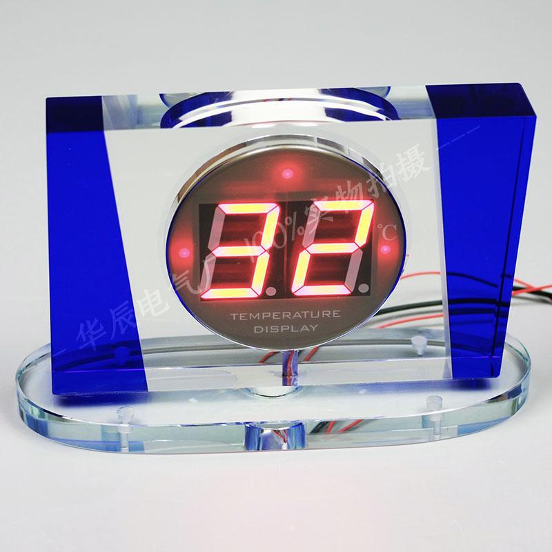 桑拿温泉泳池洗浴汗蒸水疗水晶防水温度显示器测温仪温度计,产品型号 609