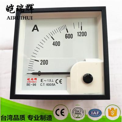 皑瑞辉(AIRUIHUI) BE96-AC600/5A交流电流表BE96指针电表 功率表