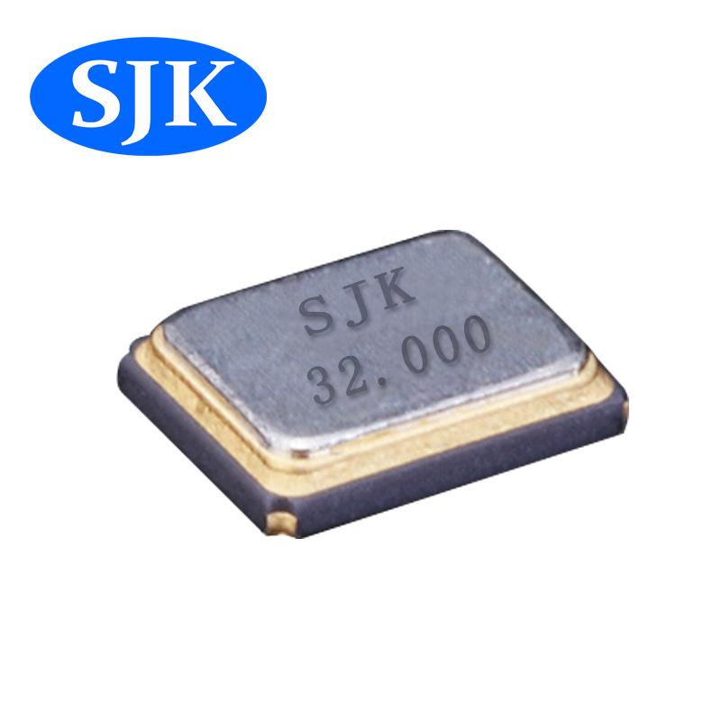 sjk晶振厂家直销3225 32m 10ppm 12pf石英晶体谐振器贴片晶振