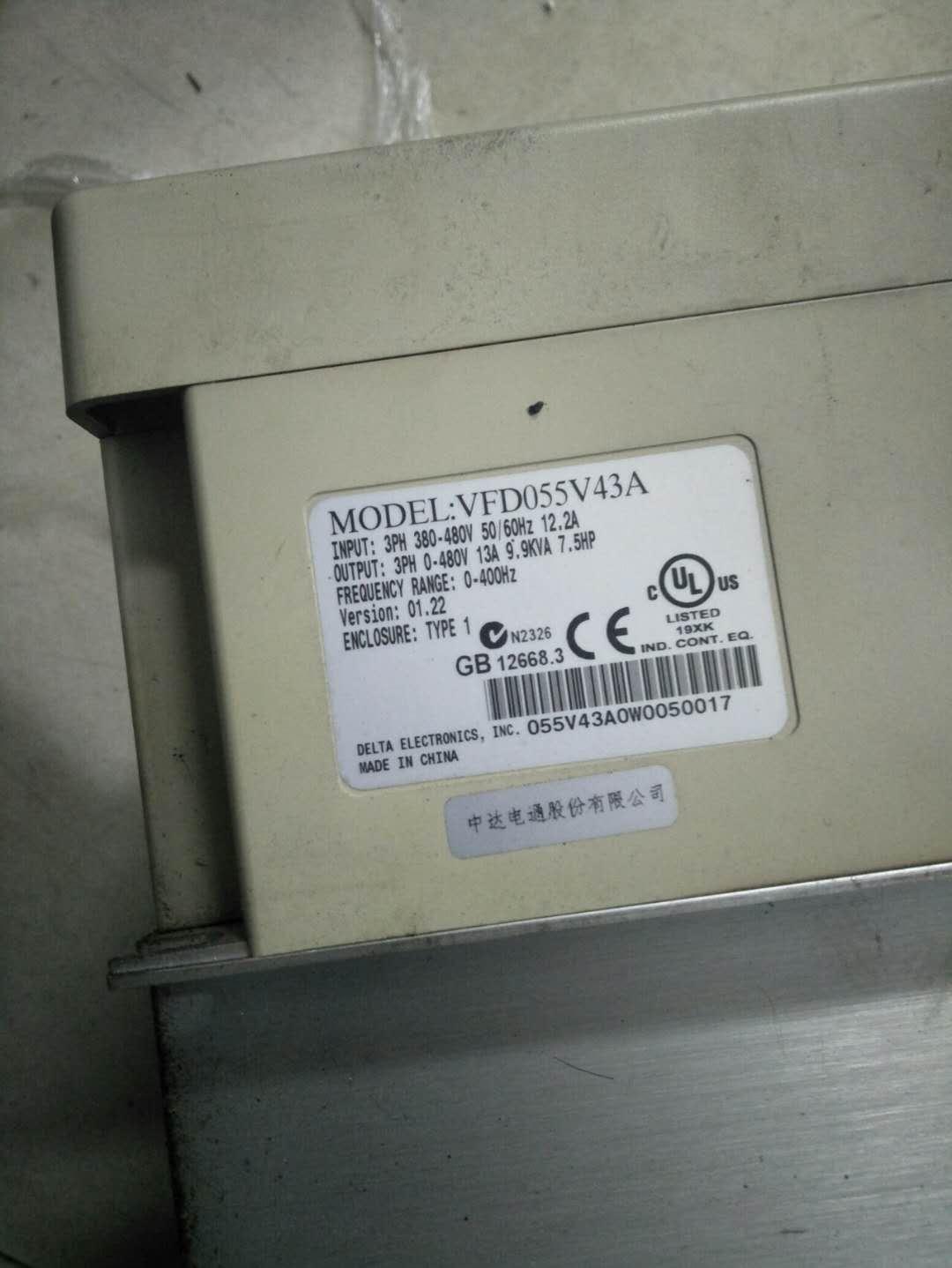 快速台达变频器维修VFD055V43A 议价