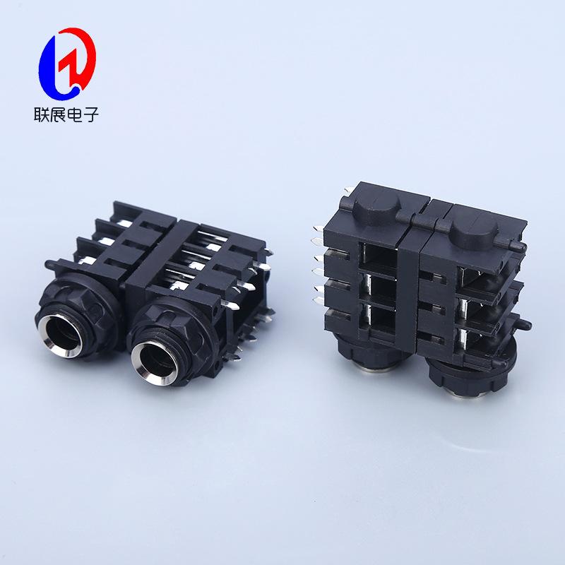 厂家供应6.35插座CK-6.35-665NTX2音响插座 麦克风插座咪座话筒