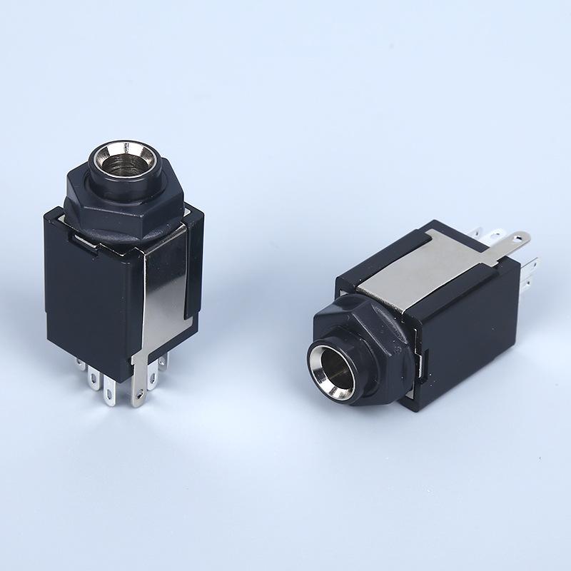 6.35插座系列CK-6.35-633话筒插座麦克风音响插座咪座