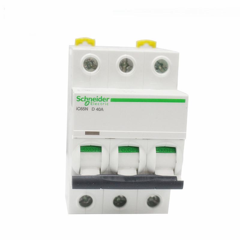 施耐德断路器 IC65N小型断路器 三相D型空气开关 3P D10A-D63A