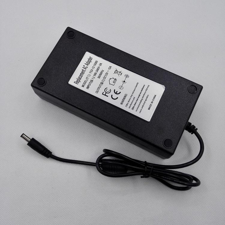 液晶显示器12V15A电源适配器12V180w大功率胶壳机械设备电源