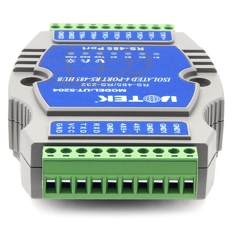 宇泰485集线器4口光电隔离防雷工业级1路转4路rs485分配器UT-5204