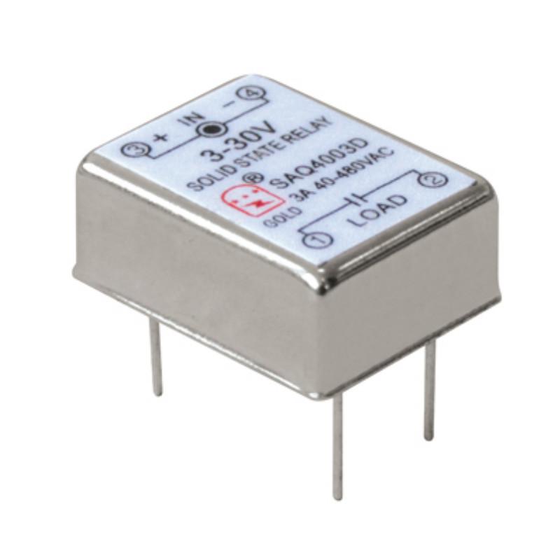 【小型固态继电器】直插式ssr继电器SAQ2406D 固特厂家直销