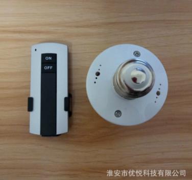 E27螺口LED节能灯 无线220V遥控灯头灯座 电灯遥控开关可穿墙