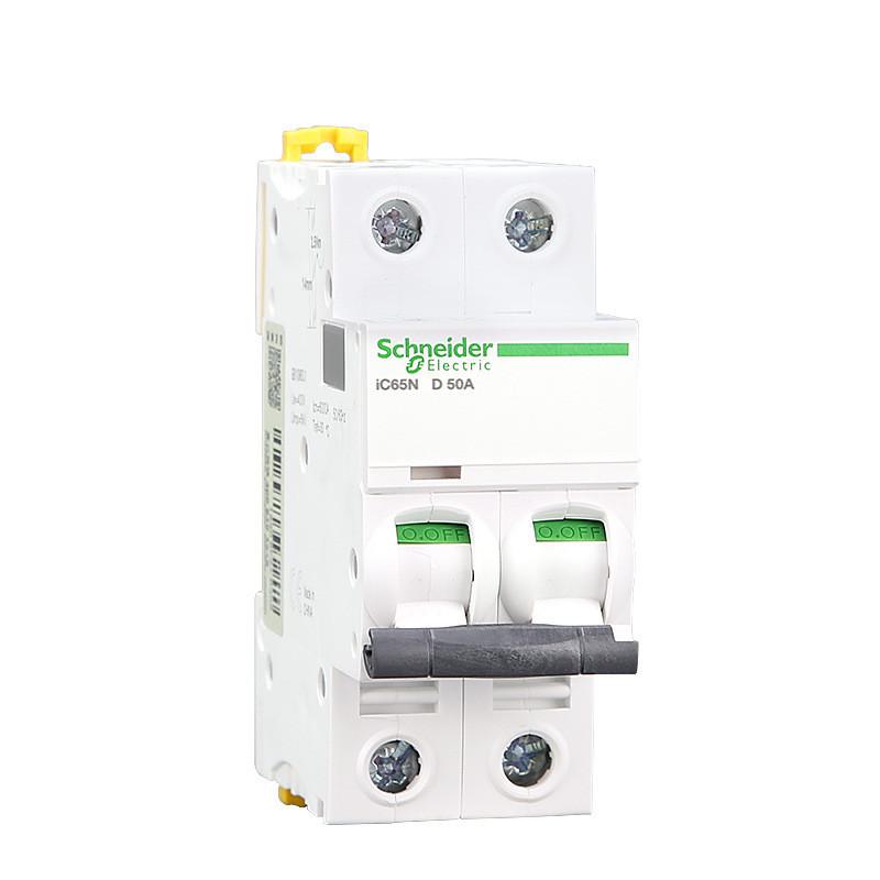 施耐德断路器 IC65N小型断路器 双极2PD10A-D63A D型空气开关