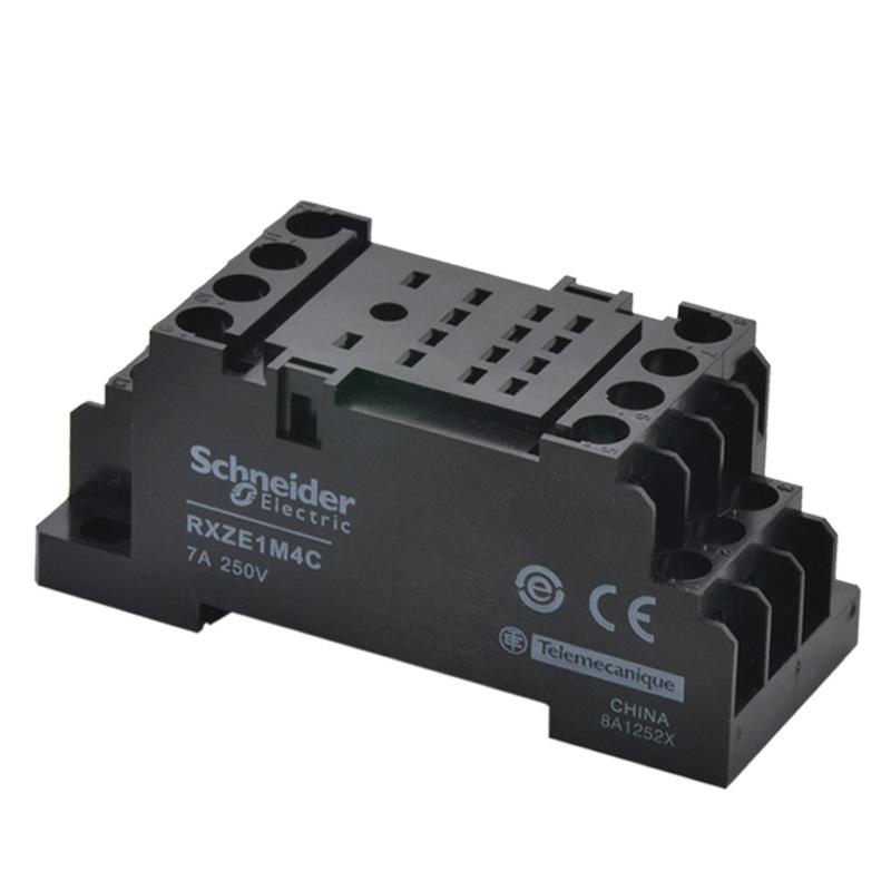 施耐德继电器底座 中间继电器底座 RXZE1M4C 14孔 7A 小型继电器