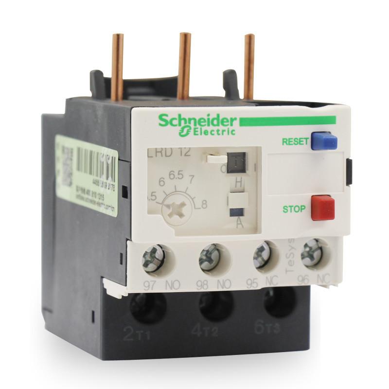 施耐德继电器 TeSys LRD国产 热过载继电器 LRD12C 电流 5.5-8A
