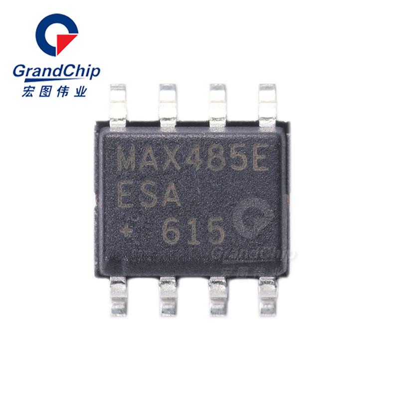 MAX485EESA+T  限摆率低功耗RS-485/RS-422收发器
