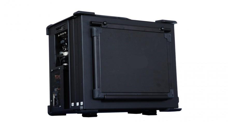 """移动服务器XJ-FLEXPACIII-RE5AE单路三屏17.3""""下翻便携式工控机"""