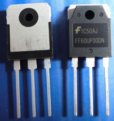 FF60UP30DN  TO-3P 60A  300V 快恢复二极管  原装仙童  适用于焊机逆变器等使用
