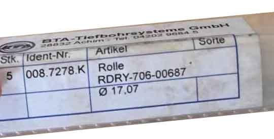 008.7278.K 滚柱德国BTA深孔钻刀片刀具 008.7278.K