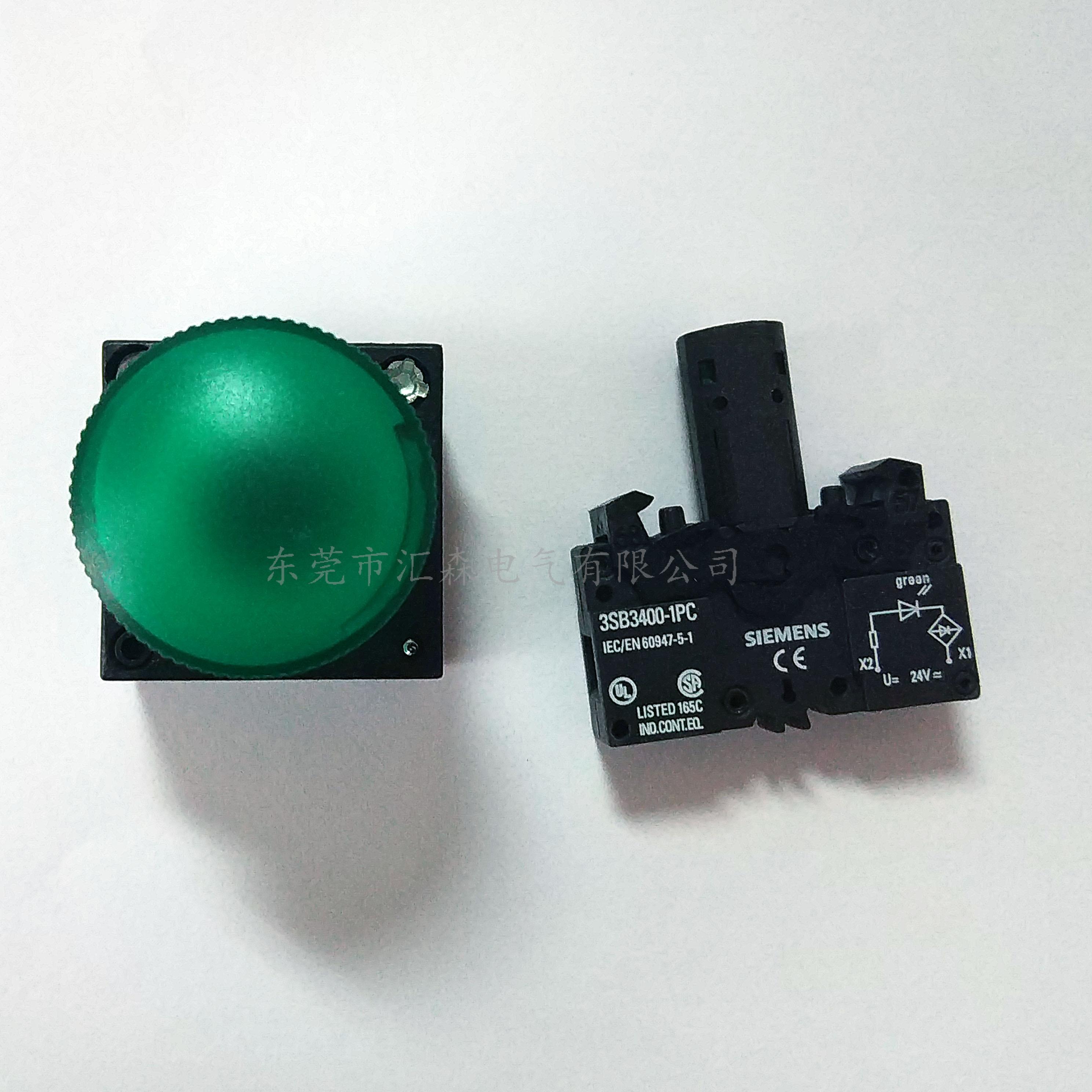 西门子按钮指示灯附件灯座3SB3400-1RB
