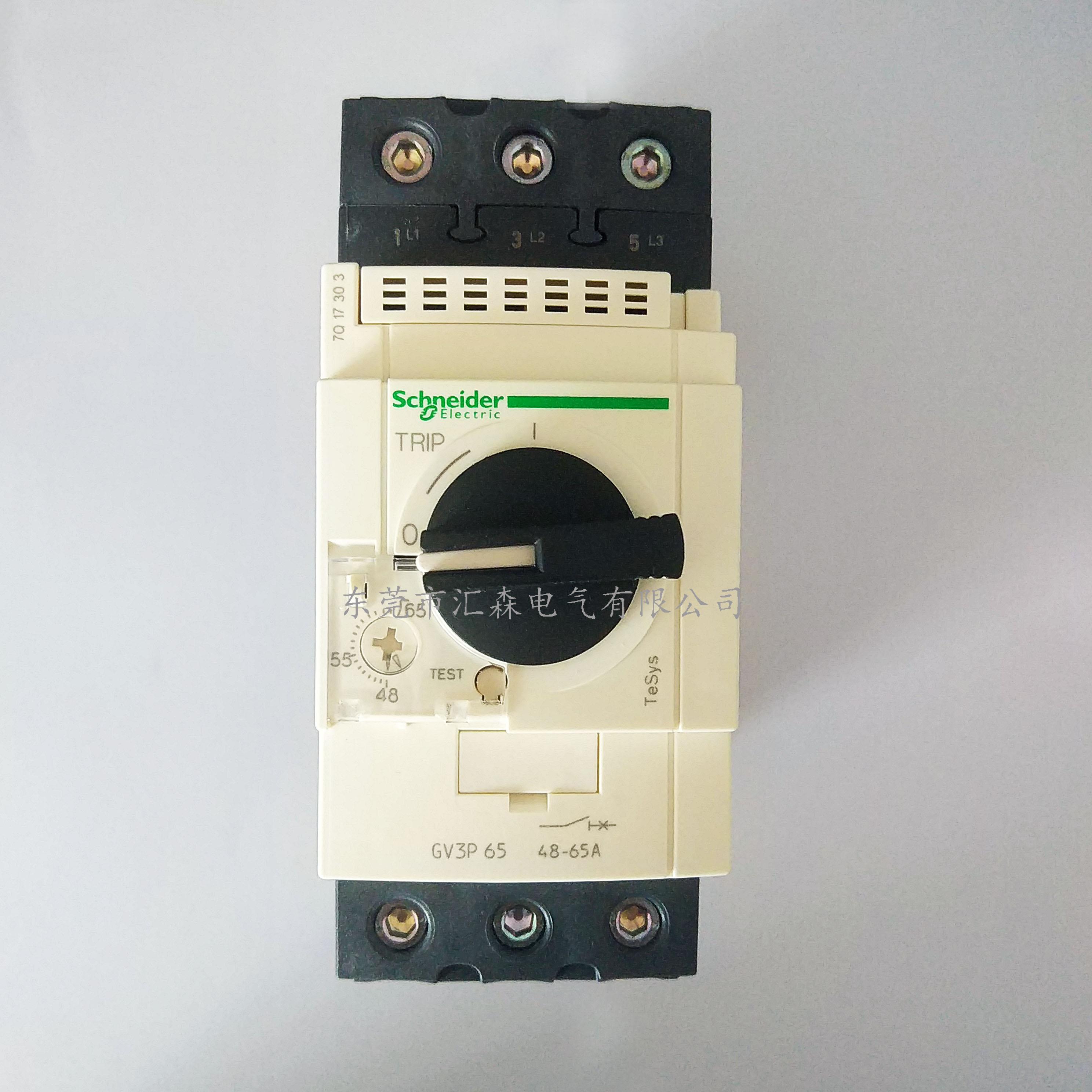 施耐德电动机断路器GV3P65
