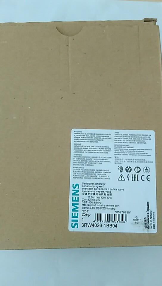 西门子软启动器3RW4026-1BB04