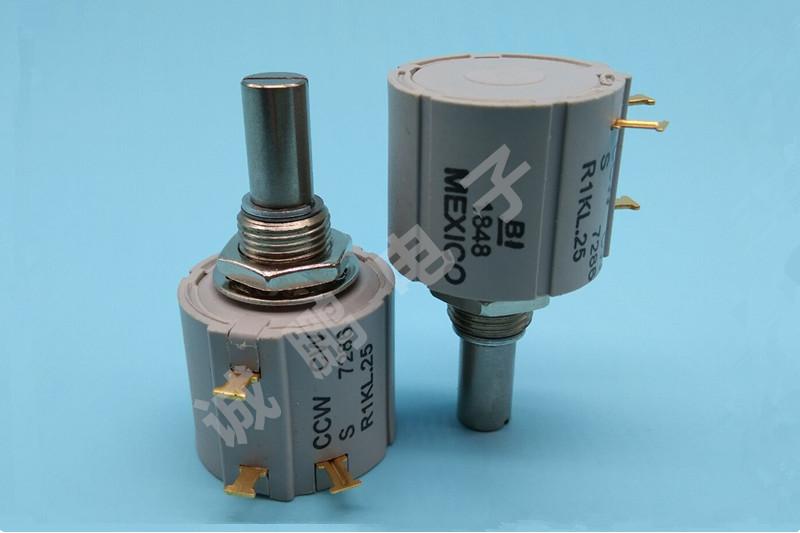 美国BI原装进口电位器 7286R1KL.25精密绕线电位器 360度旋转