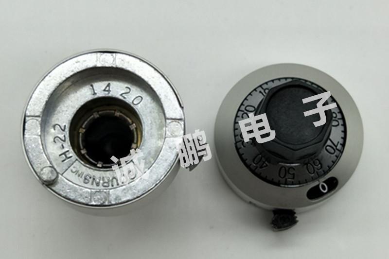 美国原装正品BOURNS H-22-6A刻度盘数字旋钮 配多圈电位器3590S