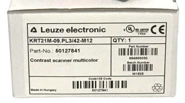 KRT21M-09.PL3/42-M12 德国劳易测智能色标光电眼 Leuze electroni 50127841