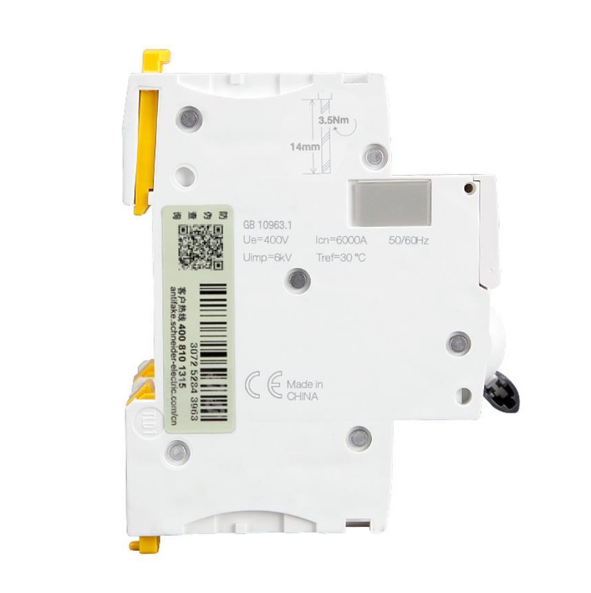 施耐德A9F19416 iC65N微型断路器 4P D16A空气开关现货