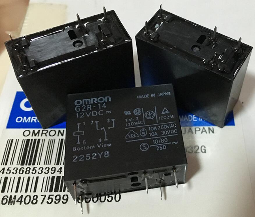 欧姆龙继电器G2R-14 12VDC G2R-14 24VDC开闭5脚10A