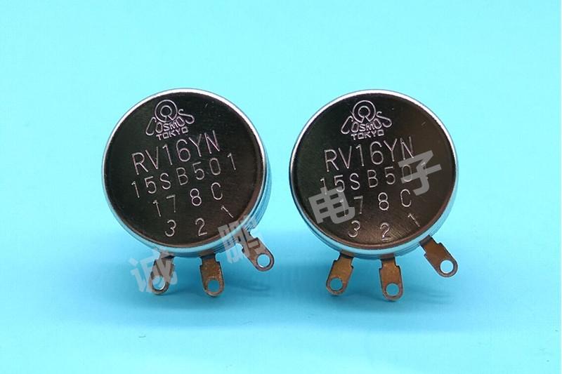 日本TOCOS电位器RV16YN15S-B501碳膜电位器