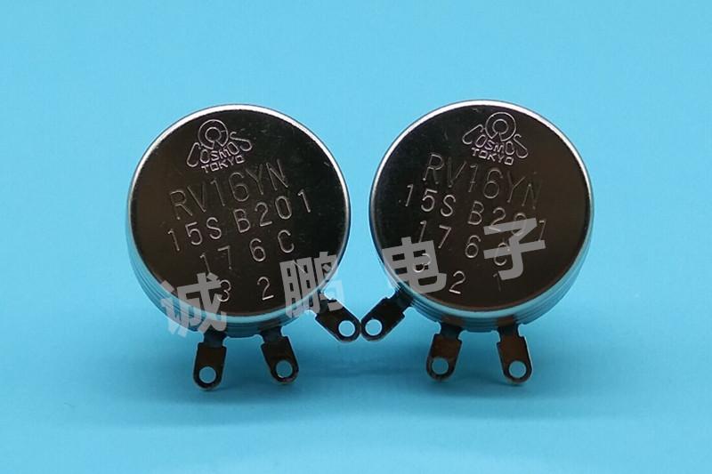 日本TOCOS电位器 RV16YN15S-B201碳膜电位器