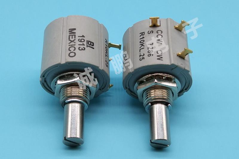 供应美国BI原装进口 7286R10KL.25 精密导电塑料电位器 360度旋转