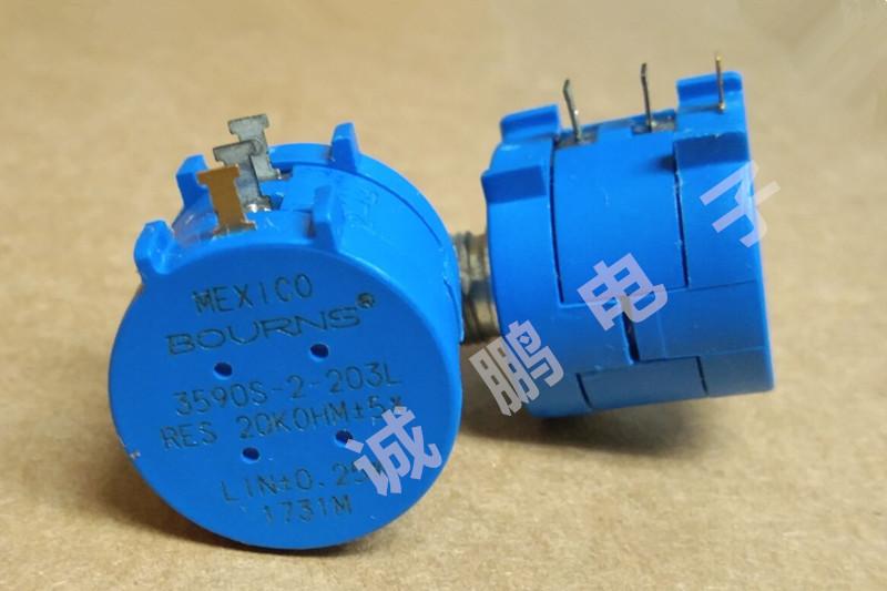 3590S-2-203L精密电位器 美国原装多圈电位器 BOURNS绕线电位器