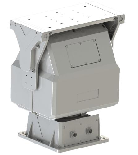 杰士安50Kg重型智能变速监控云台,适用于边防、机场雷达云台等激光、热成像或雷达和激光扫描的应用集成