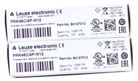 PRK46C/4P-M12 劳易测镜反射式光电传感器Leuze PRK46C/4P-M12