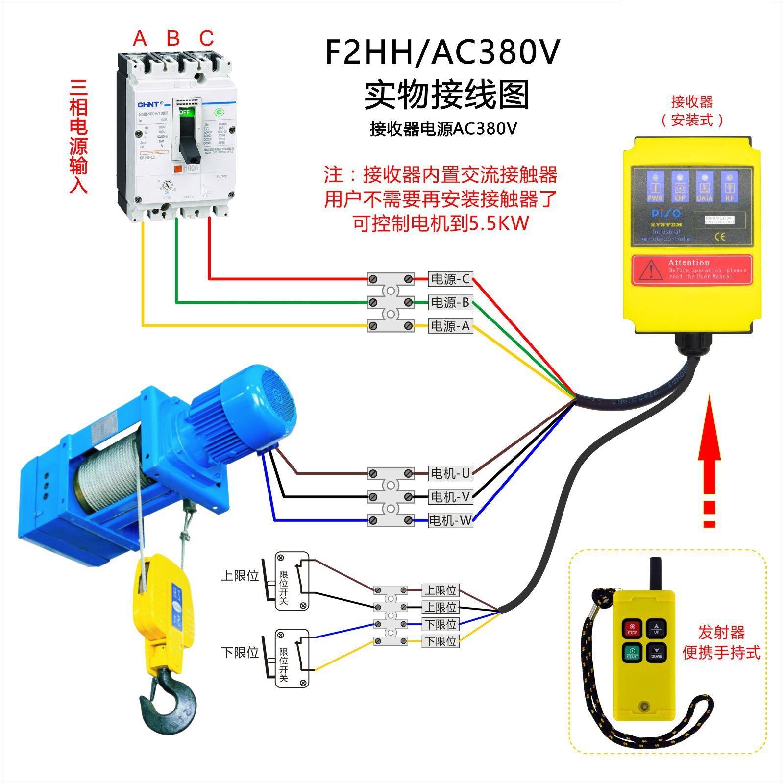 F2HH小型三相单相电动机直驱遥控器