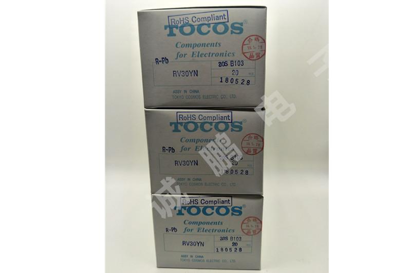 日本TOCOS电位器RV30YN20SB103单圈电位器