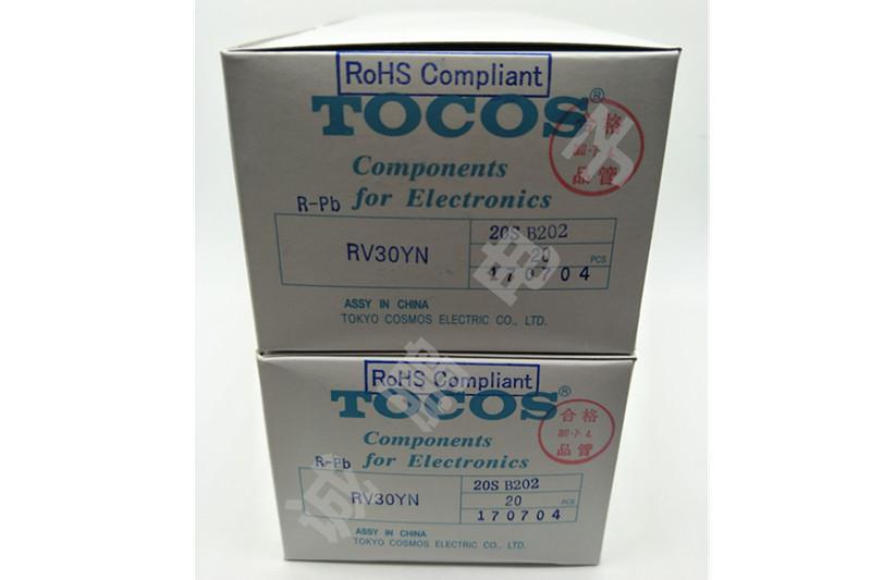 日本TOCOS电位器RV30YN20SB202单圈电位器