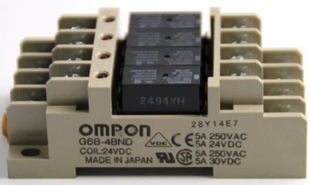 G6B-4BND DC24V欧姆龙继电器内置4个G6B-1114P-FD-US继电器 OMRON
