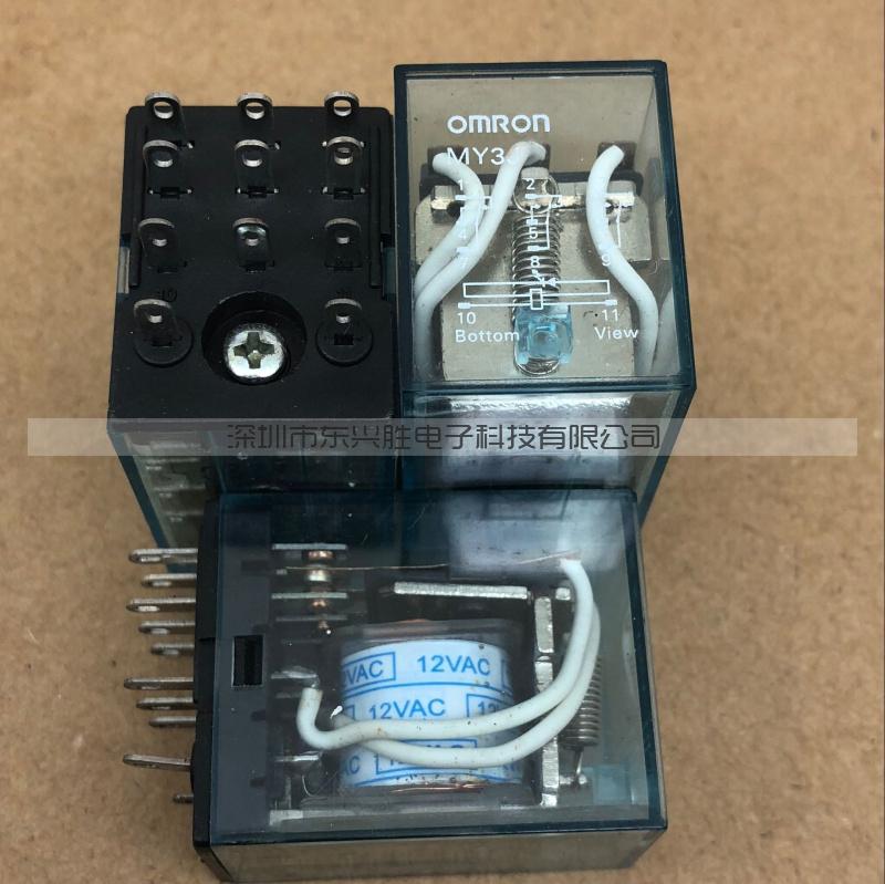 原装正品中间继电器 MY3J MY3NJ 12VAC AC 12V小脚11脚