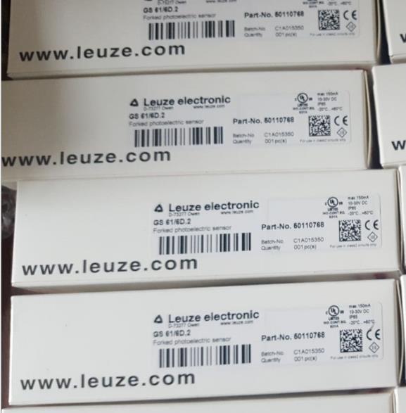 劳易测Leuze RS4-6E GS61/6D.2传感器 GS 61/6.2 劳易测槽形标签检测传感器 GS 61/6D.2