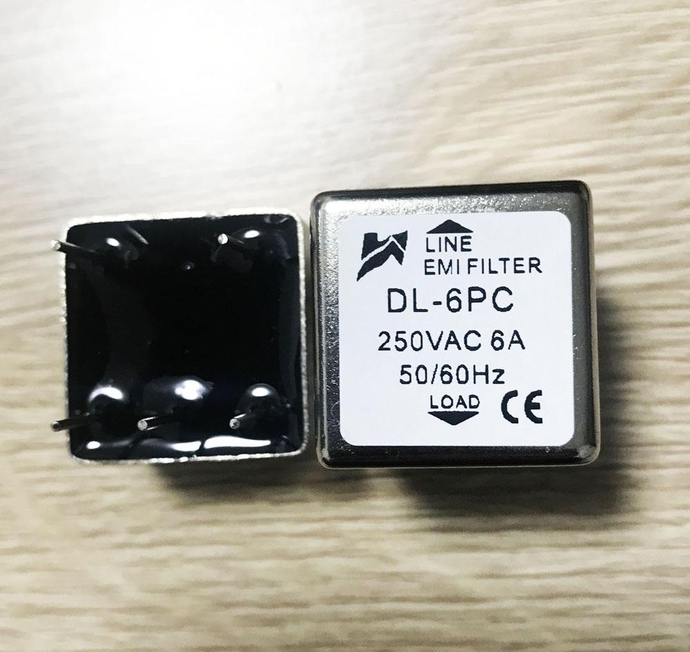 DL-6PC 单极滤波器交流PCB板专用电源滤波器220V/250V 6A-10A
