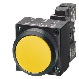 西门子三位钥匙操作按钮头及中座3SB6060-4AL11-0YA0