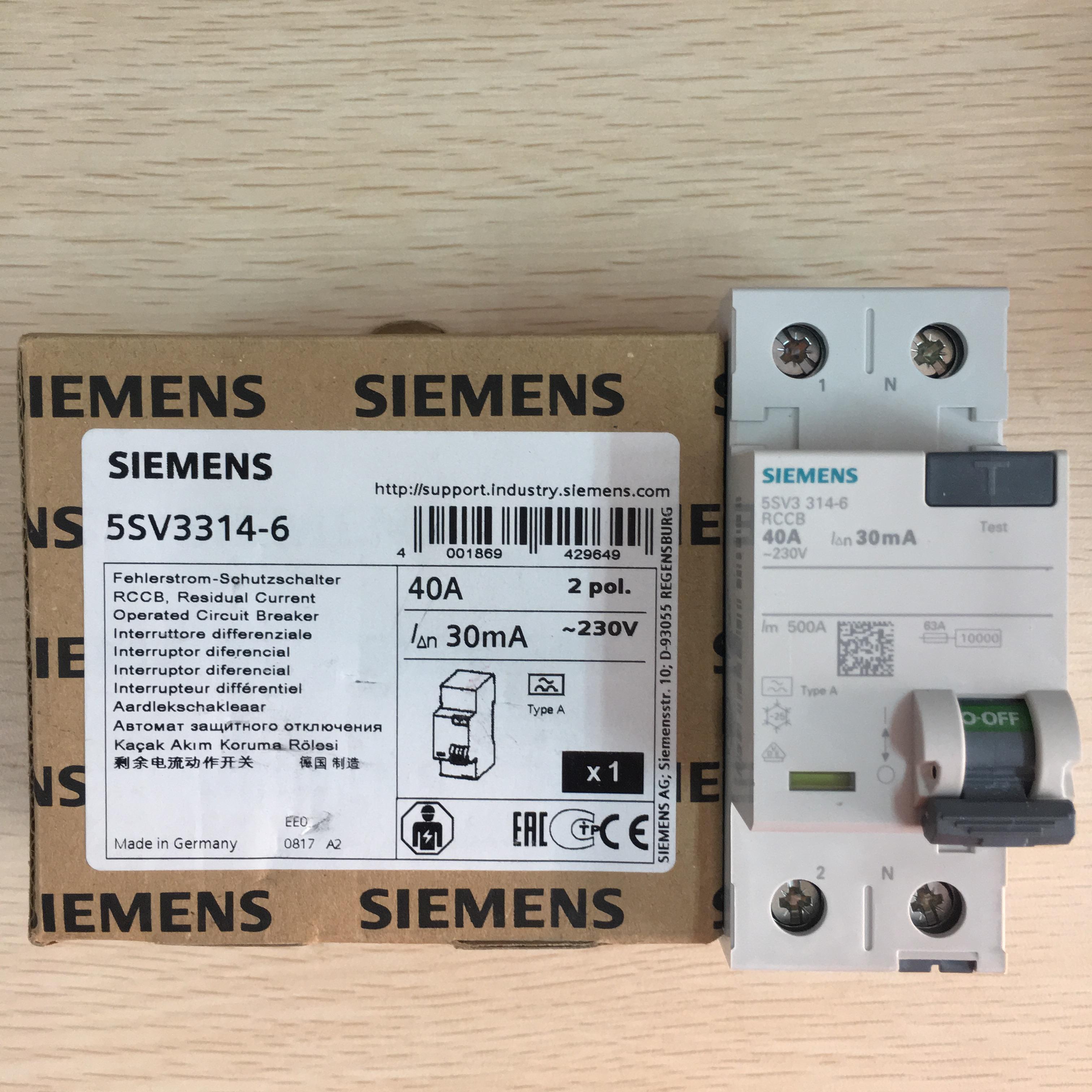 西门子漏电开关5SV3314-6